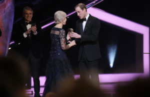Prince William and Helen Mirren
